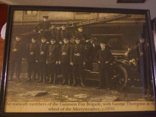 The Guinness Fire Brigade in the 1930s.