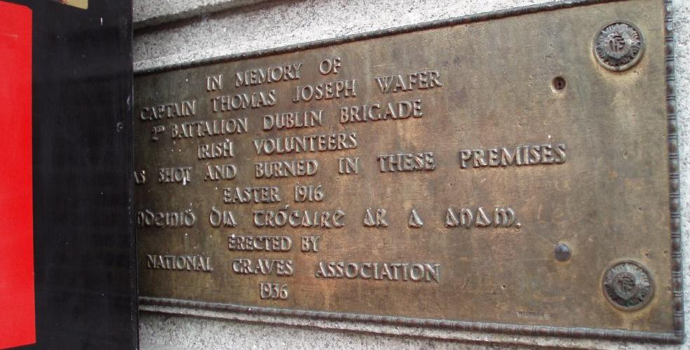 Another unusual Dublin plaque, Captain Thomas Weafer  | Come
