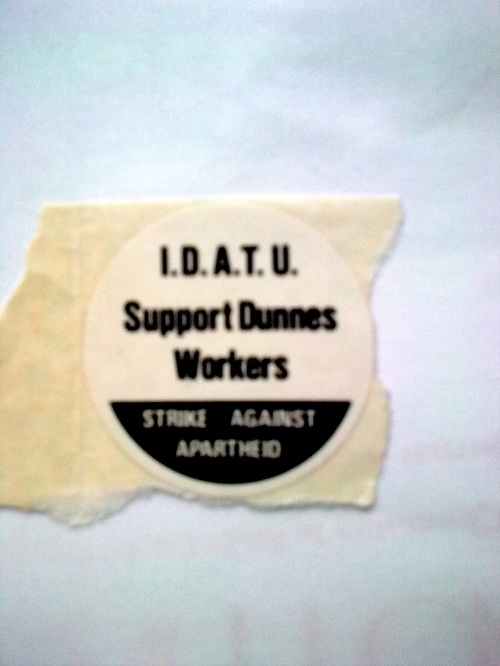 IDATU Supports Dunnes Workers - Strike Against Apart