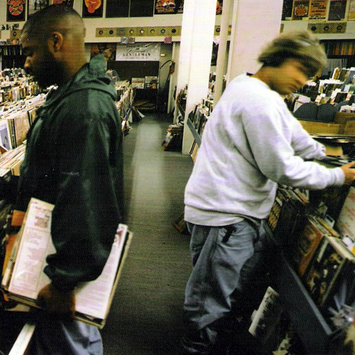 Front cover of DJ Shadow's 1996 debut album 'Entroducing'. The image was taken by Irish photographer B+ (aka Brian Cross)