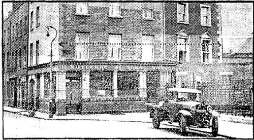Rutlegde & Sons pub, 1 Canon Street. Irish Press, Apr 22, 1949.