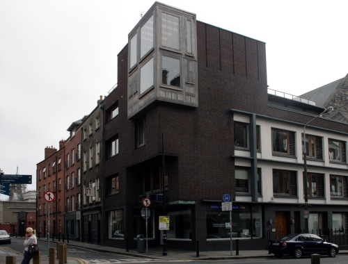 The view of the corner of Castle Street and Werburgh Street today. Credit - builtdublin.com