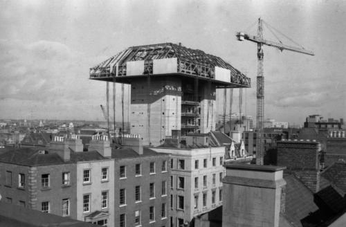 Construction under way on the Central Bank (Dublin City Public Libraries)