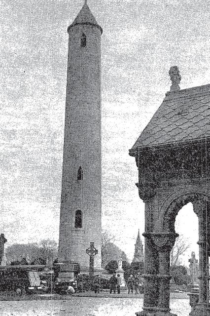 Gardaí examine the Glasnevin Tower following the 1971 explosion (The Irish Times)
