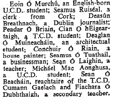 The Irish Times details the hunger strikers (April 12 1966)