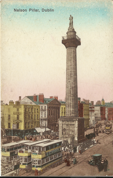Postcard showing the Pillar.