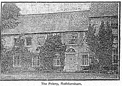The view of the Priory in 1925. The Sunday Independent, 01 November 1925