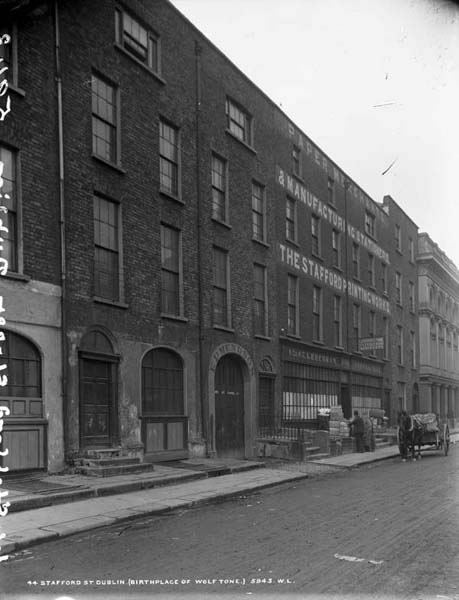 44 Stafford Street, birthplace of Wolfe Tone (Image rights: NLI)