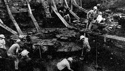 The dig was widely reported in the media. This image featured in The Irish Times.