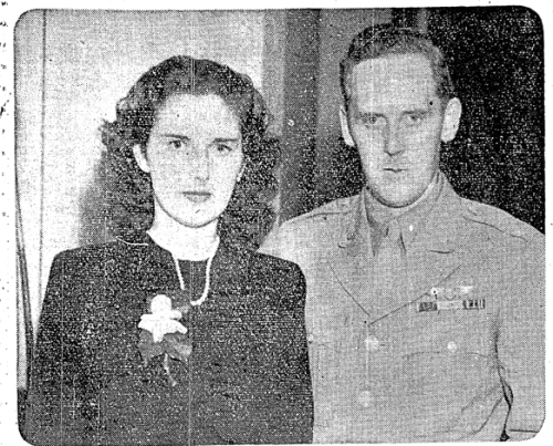 A picture of Eileen and Jack after the announcement of their engagement. The Irish Press, July 13 1946