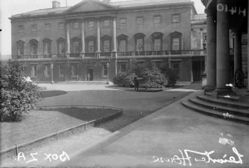 Leinster House. Today the home of the Dáil and Seanad but once the family home of the Fitzgerald family (NLI)