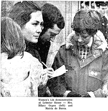 Media coverage of the protest from April 1st 1971