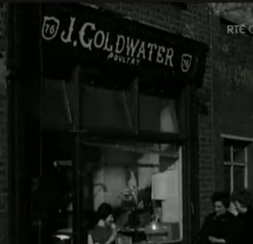 J. Goldwater shop on Clanbrassil Street. (RTE, documentary 1965)