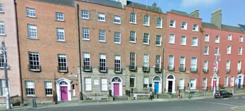 Google Street View of  the corner of Parnell Square where Vaughan's was found.