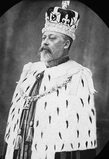 King Edward VII, who visited the International Exhibition.