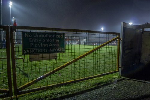 'No unauthorised entry onto the playing area' - Paul Reynolds.
