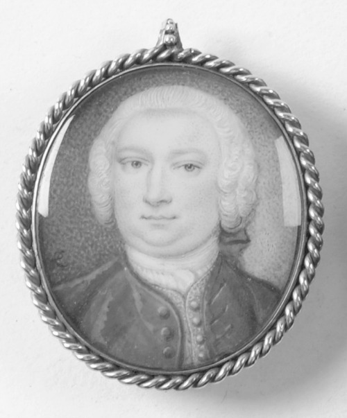 Miniature portrait of a gentleman, by Peter Lens