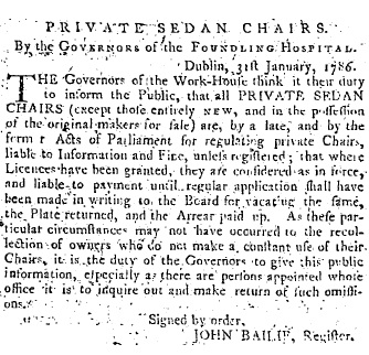 Front page of Freeman's Journal, April 25th 1786