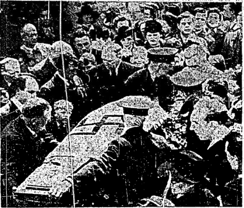 A scene from the funeral. Published first in The Irish Independent, Oct 22 1961.