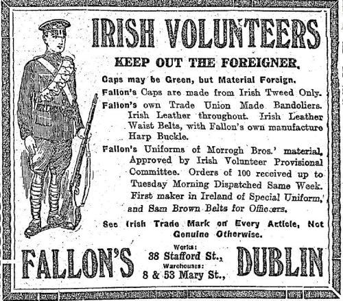 Fallon's advertisement, 1914