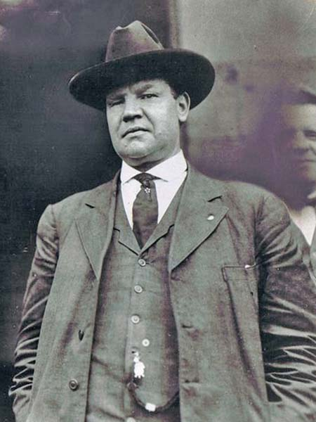Big Bill Haywood, American trade unionist.