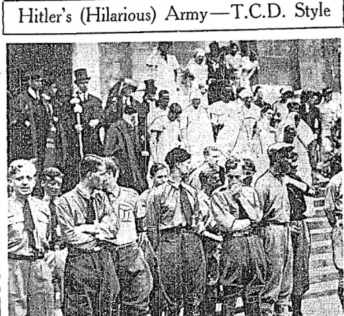 Young Trinity students dressed like followers of Hitler (Irish Independent)