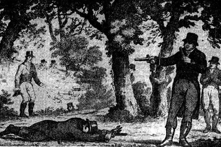 An engraving that appeared in the Irish Magazine, March 1815