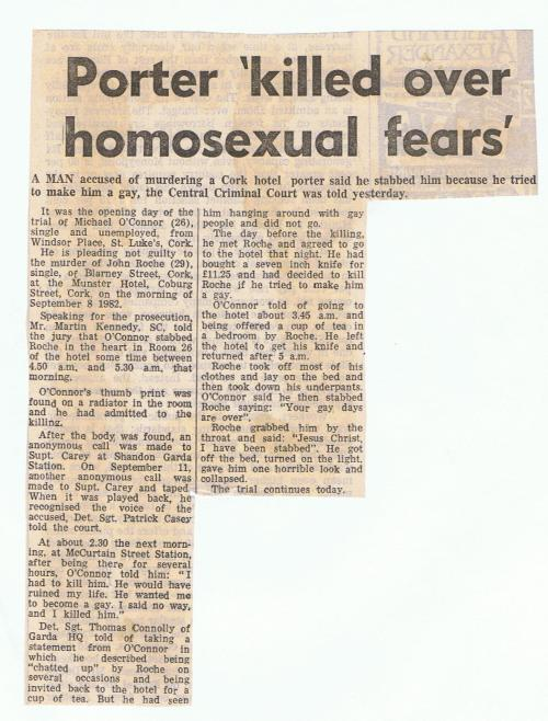 Evening Press, 11th May 1983. Credit - Irish Queer Archive