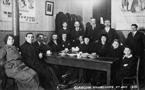 Picture of the Glasgow Anarchist Group in 1915. Credit - ibcom.org