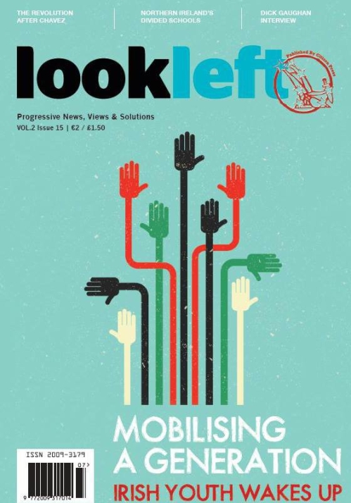 Look Left 15 cover. Design - Claire Davey.