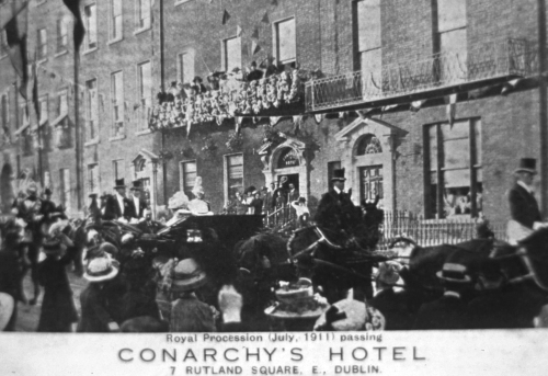 The Royal Procession passing through Rutland (Parnell Square), 14 years later.