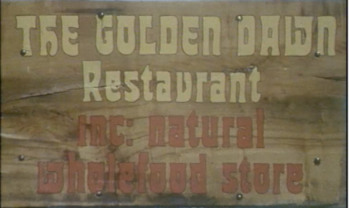 Screengrab from 1978 RTE piece on The Golden Dawn restaurant.