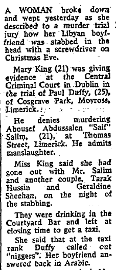 The Irish Independent, 3 February 1984.