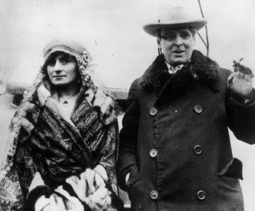 Maud Gonne and WB Yeates, nd (Credit - coreopsis.org)