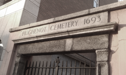 The Merrion Row cemetery, which is sadly closed to the public at most times.