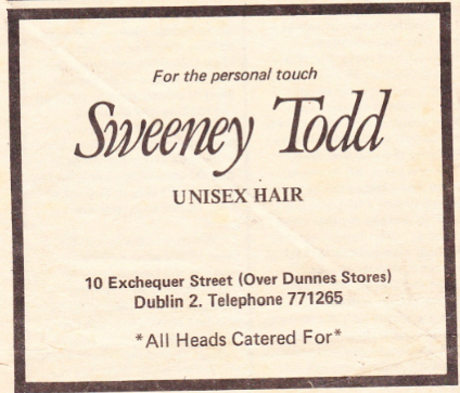 Sweeney Todd advertisement