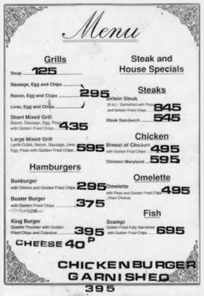 4 - The Gig's 1970s menu page 2