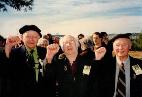 Michael O'Riordan, Morry Levitas and Peter O'Connor. Credit - O'Riordan family