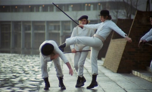 A scene from A Clockwork Orange.