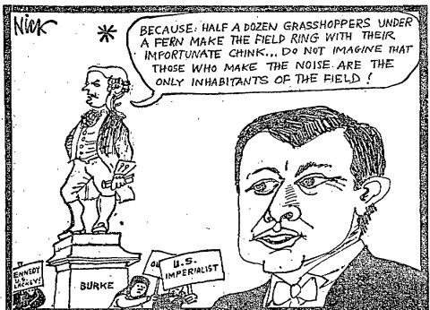 A cartoon in The Irish Times following Kennedy's speech.