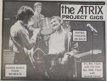 Hot Press advert for a series of Atrix gigs in the Project Arts Centre in 1980. Credit - u2theearlydayz.com