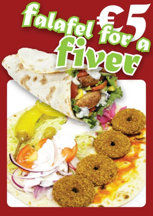 Falafel and Kebab advertisement