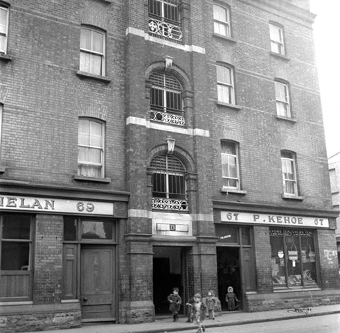 A historic image of Benburb Street (Via 'Dublin Tenement LIFE')