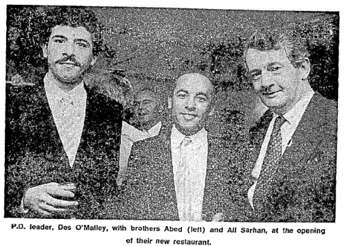 Opening of the Cedar Tree.19 October 1986,  Sunday Independent.