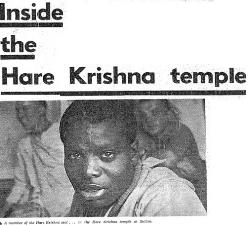 An image from inside the Hare Krishna home at Sutton, taken from the Irish Independent.
