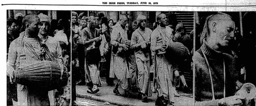 Irish Press images of Hare Krishnas.