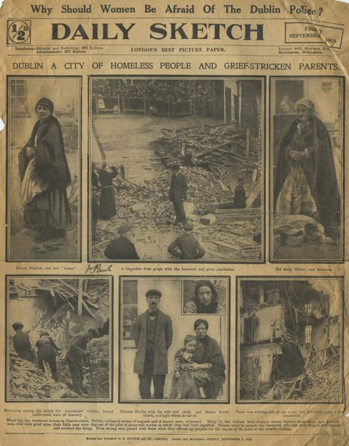 News coverage of Church Street collapse. (Posted with permission from Irish Capuchin Archive)