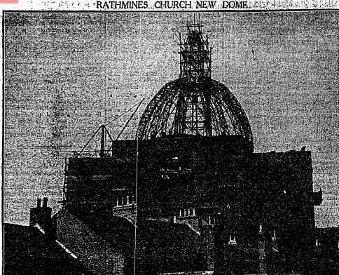 A 1923 image of the new church dome. (Irish Times)