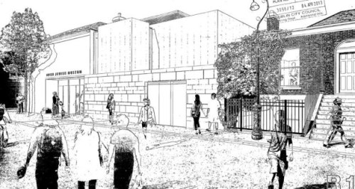 An artist's impression of the proposed new Irish Jewish Museum in Portobello, Dublin, which would involve demolishing five houses and building a two-storey-over-basement museum incorporating a cafe, synagogue, archive storage and audiovisual theatre. Credit - The Irish Times