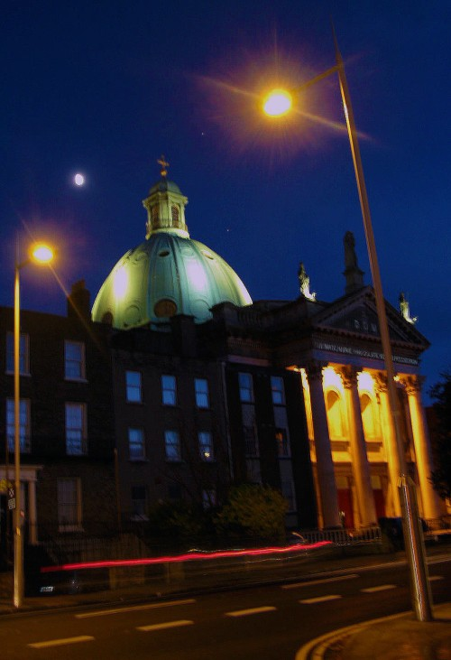 The dome of the church at night. (Image: Ciaran Murray/CHTM)